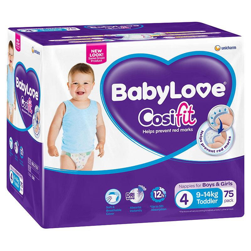 Babylove Cosifit Jumbo Nappies Toddler 75 at Chemist Warehouse in Campbellfield, VIC | Tuggl
