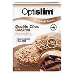 Optislim 100 Calorie Snack Double Choc 4 Cookies