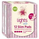 Tena Light Slim Pads With Wings 12 Pack