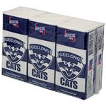 AFL Pocket Tissues Geelong 6 Pack