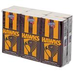 AFL Pocket Tissues Hawthorn 6 Pack