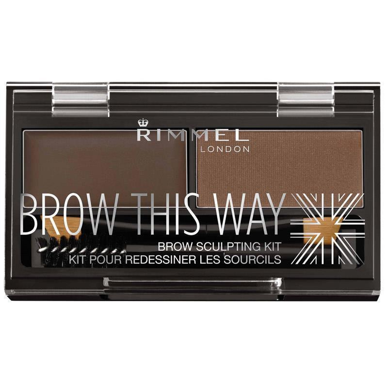 Rimmel Brow This Way Eyebrow Powder Kit 003 Dark Brown at Chemist Warehouse in Campbellfield, VIC | Tuggl
