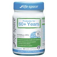 Life Space Probiotic For 60+ Years 60 Capsules by Life Space
