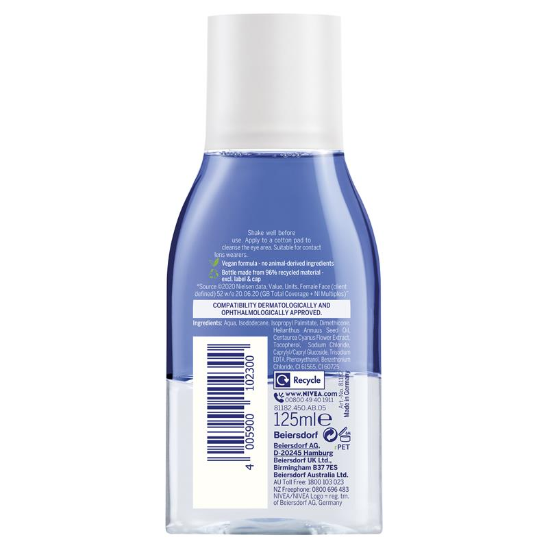 Buy Nivea Daily Essentials Double Effect Eye Makeup Remover 125ml