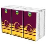 NRL Pocket Tissues Brisbane Broncos 6 Pack