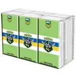 NRL Pocket Tissues Canberra Raiders 6 Pack