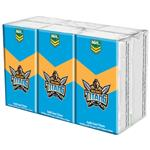 NRL Pocket Tissues Gold Coast Titans 6 Pack