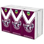 NRL Pocket Tissues Manly Warringah Sea Eagles 6 Pack