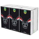 NRL Pocket Tissues New Zealand Warriors 6 Pack