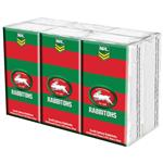 NRL Pocket Tissues South Sydney Rabbitohs 6 Pack
