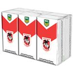 NRL Pocket Tissues St George Illawarra Dragons 6 Pack