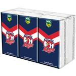 NRL Pocket Tissues Sydney Roosters 6 Pack