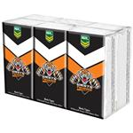 NRL Pocket Tissues Wests Tigers 6 Pack