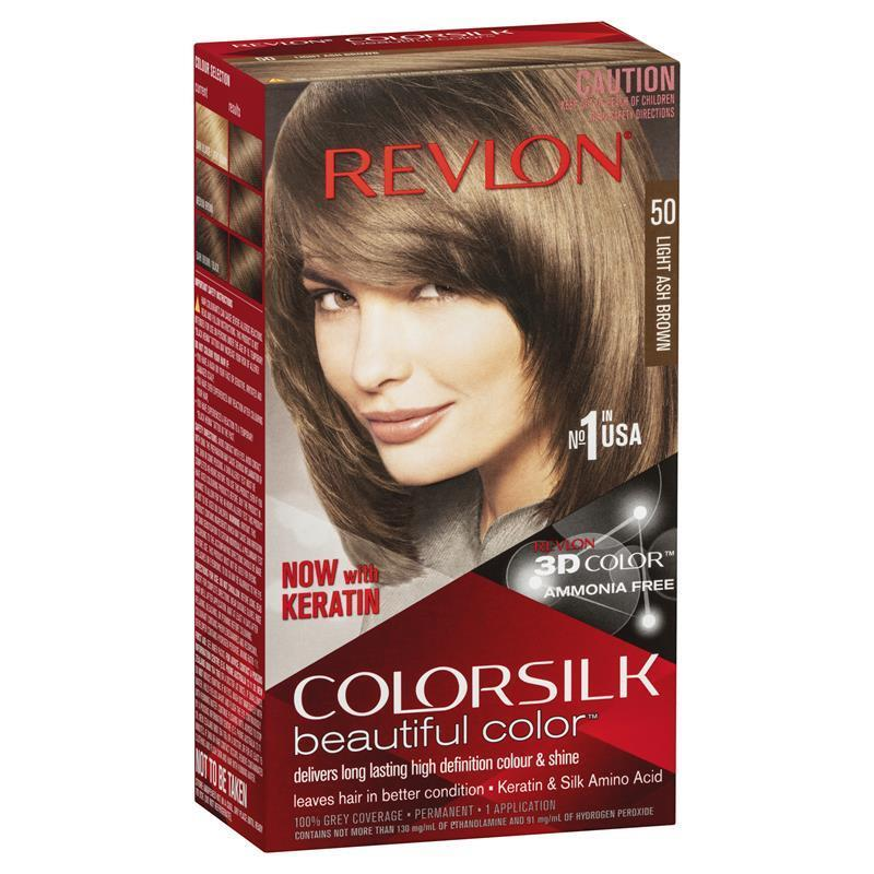Buy Revlon Colorsilk 50 Light Ash Brown Online At Chemist