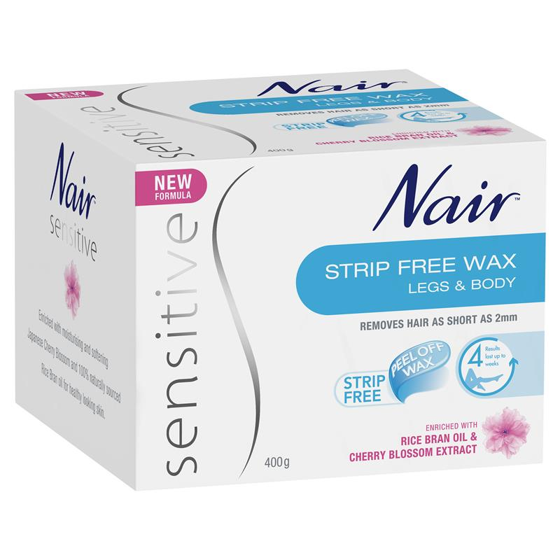 how to use nair face wax strips