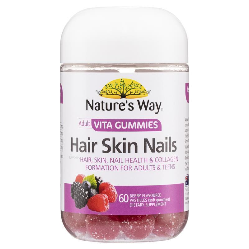 Buy Nature\'s Way Vita Gummies Adult Hair Skin Nail 60 Gummies Online ...