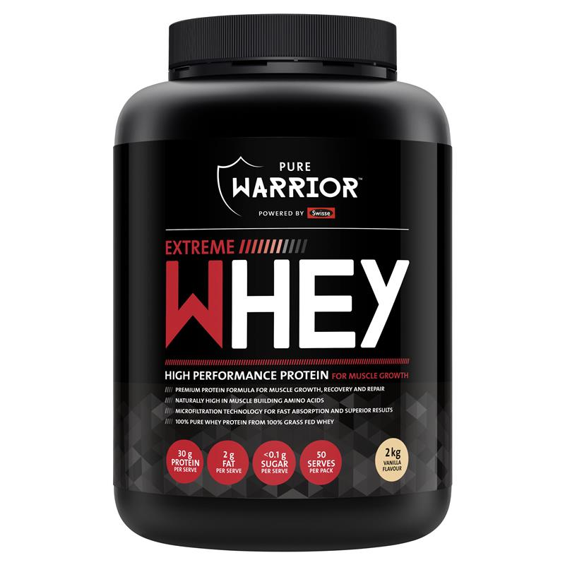 Pure Warrior Powered by Swisse™ Extreme Whey Vanilla 2kg | Tuggl