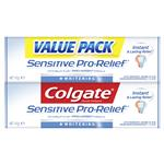 Colgate Toothpaste Sensitive Pro Relief Whitening 110g Twin Pack