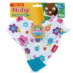 Nuby Bandana Bib with Teether Girl 1 Pack