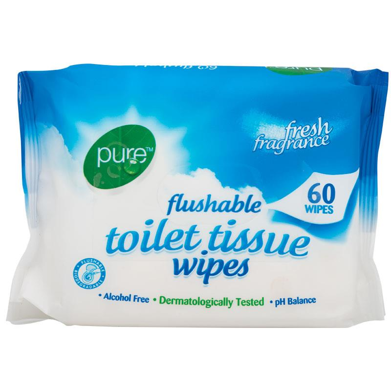 Buy Pure Flushable Toilet Tissue 60 Wipes Online At Chemist Warehouse