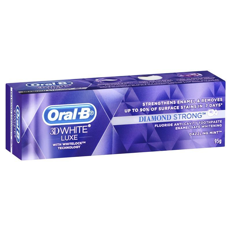 Oral B Toothpaste 3D White Luxe Diamond Strong 95g at Chemist Warehouse in Campbellfield, VIC | Tuggl