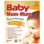 Baby Mum-Mum Organic Rice Rusks Carrot Flavour 36g