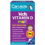 Carusos Natural Health Kids Vitamin D Melts 60 Tablets