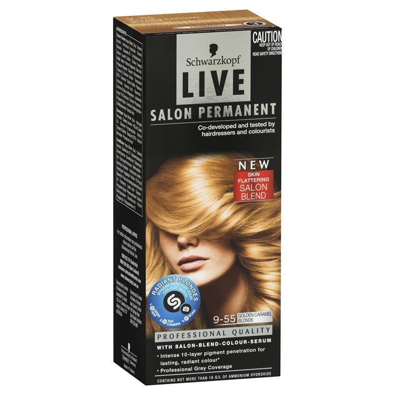 Buy schwarzkopf live salon permanent golden caramel for Salon schwarzkopf