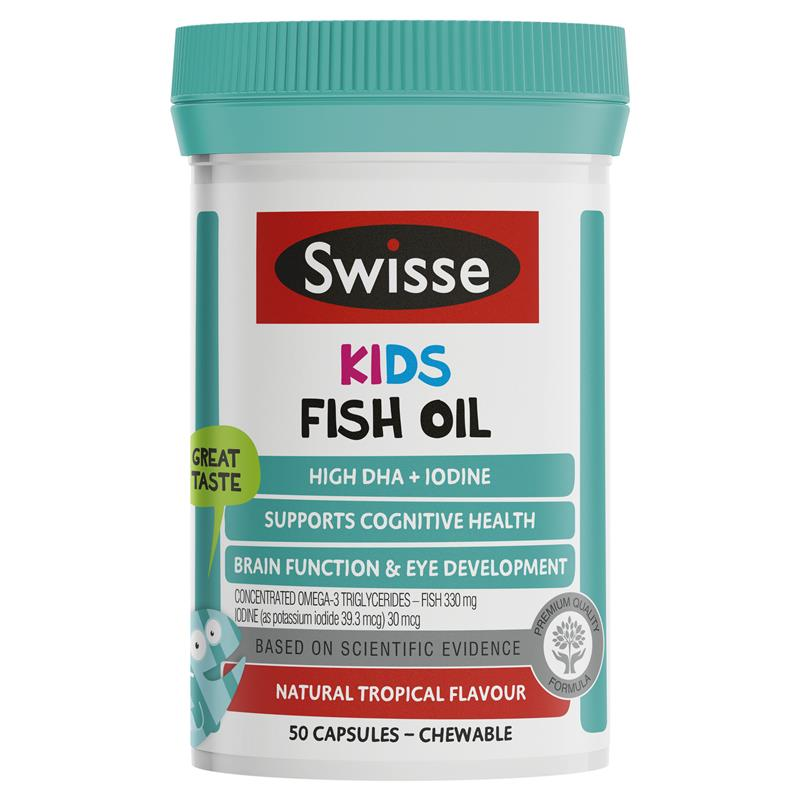 buy swisse kids fish oil 50 burstlets online at chemist