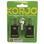 Korjo TSA Key Complaint Lock With Indicator 2 Pack