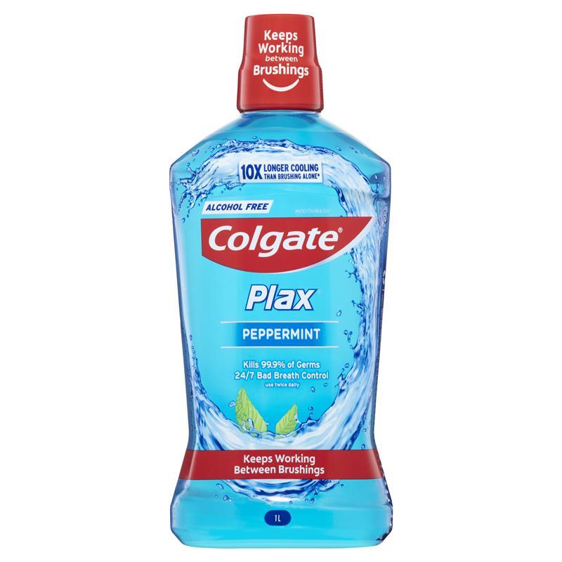 Colgate Plax Mouthwash Peppermint 1L | Tuggl