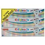 Health & Beauty Toothpaste Childrens 3 Pack