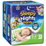Babylove Sleepy Nights 2-4 Years Overnight Pants 12 Pack