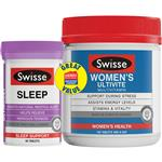 Swisse Womens Ultivite 150 Tablets Plus Swisse Ultiboost Sleep 60 Tablets Exclusive Size