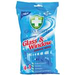 Green Shield Glass and Window Wipes 50