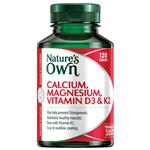 Nature's Own Calcium Magnesium Vitamin D3 + K2 120 Tablets