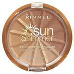Rimmel 3 in 1 Shimmering Bronzer 001