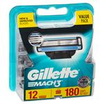 Gillette Mach 3 Cartridges 12 Pack