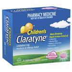 Claratyne Children's Chewable Tablets Bubblegum 30 Pack