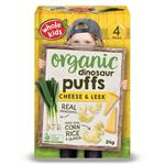 Whole Kids Little Munchkins Organic Dinosaur Puffs Cheese & Leek 6g 4 Pack