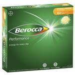 Berocca Performance Mango and Orange Effervescent 60 Tablets Exclusive Size