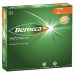 Berocca Performance Orange Effervescent 60 Tablets Exclusive Size