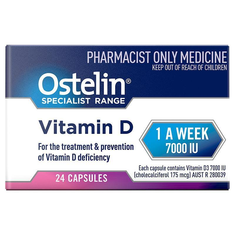 Ostelin Vitamin D3 7000IU 24 Capsules at Chemist Warehouse in Campbellfield, VIC | Tuggl