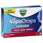 Vicks VapoDrops + Cough Berry Menthol 16 Lozenges