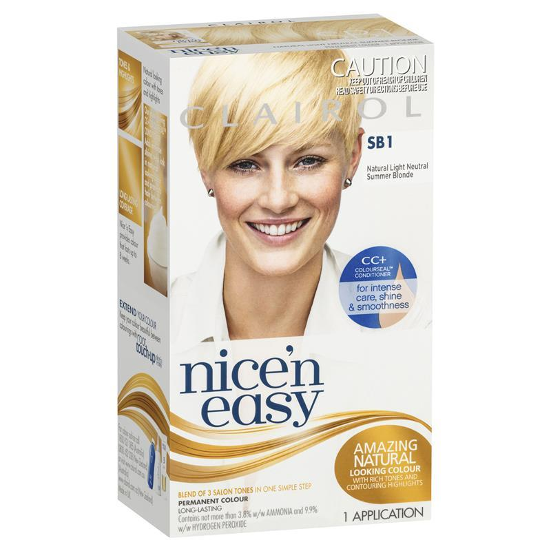 Buy Clairol Nice Easy Sb1 Natural Light Neutral Summer Blonde