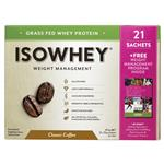 IsoWhey Weight Management Classic Coffee 21 x 32g Sachets Online only