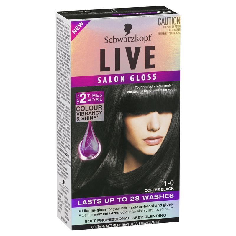 Buy schwarzkopf live salon gloss 1 0 coffee black online for Salon schwarzkopf