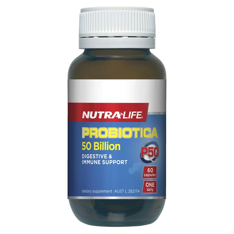 Nutra-Life Probiotica 50 Billion 60 Capsules Exclusive Size | Tuggl