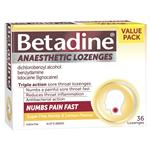 Betadine Anaesthetic Lozenges Honey & Lemon Flavour 36 Pack - Sore Throat Lozenges