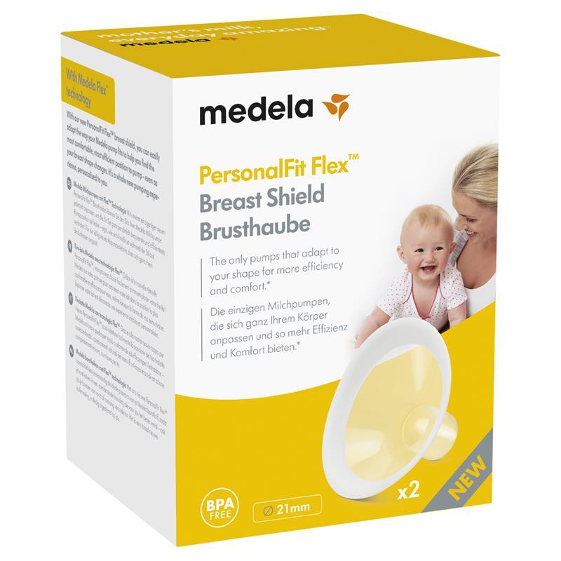 Clear Medela PersonalFit Flex Breast Shields 21mm